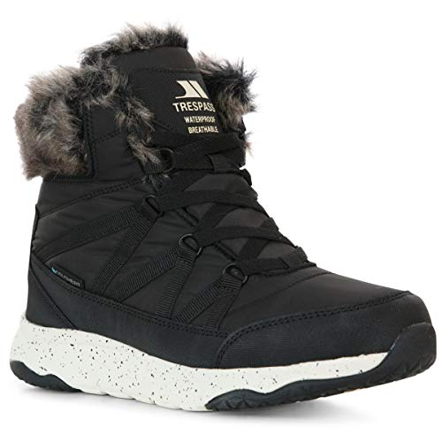 Kenna Women's Waterproof Snow Boots - BLACK 39