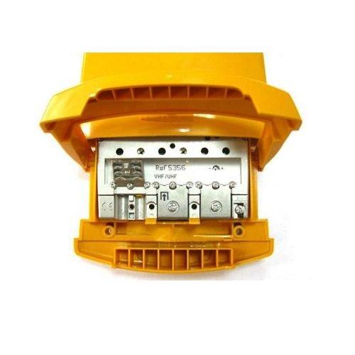 Amplificador mastil nanokom 1e UHF 41 dB Amarillo, Cablepelado®