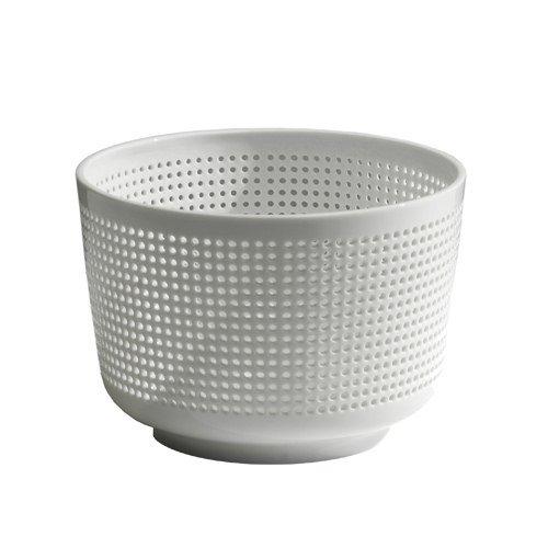 Industreal PANIER PERCE speciale ciotola in porcellana bianca traforata da ricamare