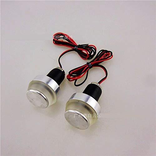 Lot de 2 Ampoules LED 12 V pour Guidon de Moto universelles (Blanc)