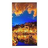 CIKYOWAY Juegos de Toallas Islas Baleares Mallorca Puerto De Soller Atardecer Toallas de Mano multipropósito para baño,Manos,Cara,Gimnasio y SPA Absorbente Suave 40x70cm