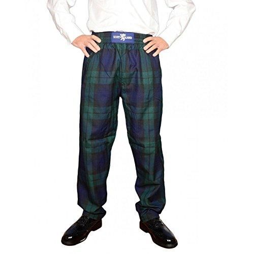 Scotland - Pantalón - para Hombre Verde Reloj Negro Small/Medium