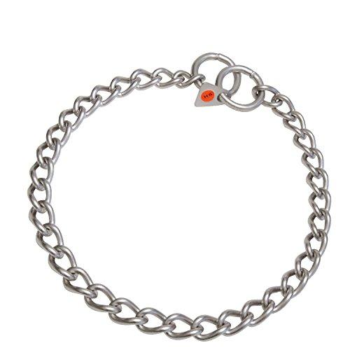 HS Sprenger - Collar eslabón retorcido de acero inoxidable mate