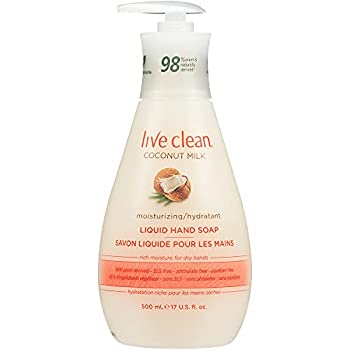 Live Clean Liquid Hand Soap Coconut Milk 17 Oz   Packaging May Vary