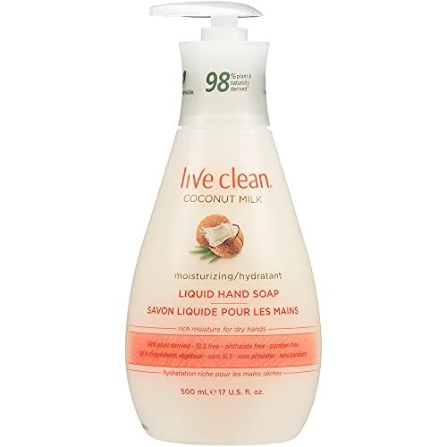 Live Clean Coconut Milk Moisturizing Liquid Hand Soap, 500 mL