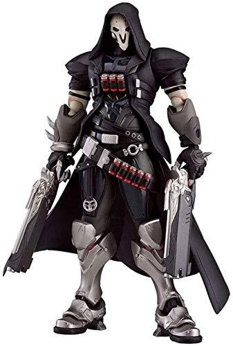 YIGEYI Figurine Overwatch Reaper Gabriel Reyes Anime Figura de acción 6,7 Pulgadas PVC Figura de colección Modelo Estatua Personaje Juguetes Adornos de Oficina Estatuilla Pop