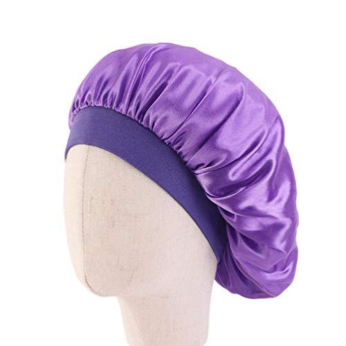 HEALLILY 2ピースサテンスリーピングキャップナイトスリープキャップロングヘアケアボンネットスリーピングヘッドカバーケモキャップガン帽子子供のため