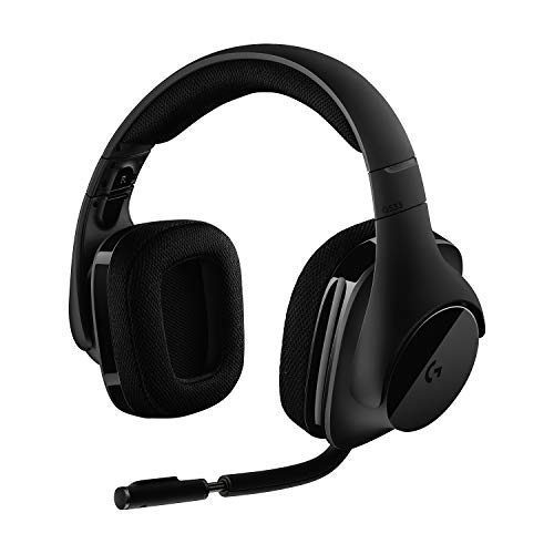 Logitech G533 Auriculares Inalámbricos para Gaming, 7.1 Surround DTS Headphone:X, Transductores 40mm Pro-G, Micrófono, 2,4 GHz Inalámbrico, Batería de 15 Horas, PC/Mac - Negro