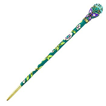YOY Fashion Hair Decor Chinese Traditional Style Women Girls Hair Stick Hairpin Hair Making Accessory Austrian Crystal with Butterfly,Blue Green