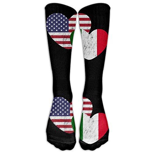 Unisex Socken, italienische Flagge, Unisex, Kniestrümpfe, Sportsocken, Einheitsgröße.
