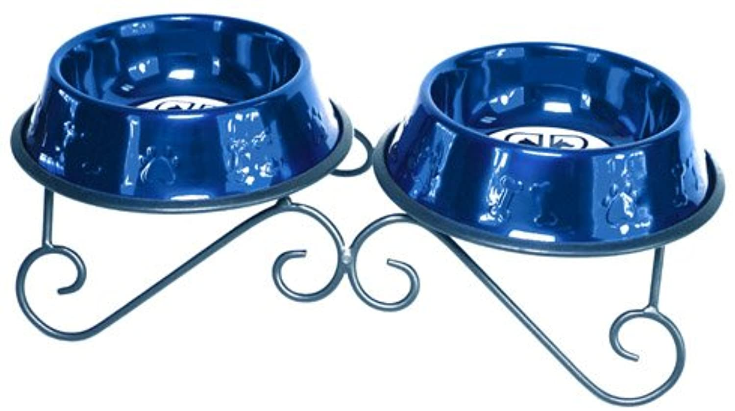 Platino Animali domestici 24Ounce Double Diner Stand with 2 Bowls, Sapphire Blue