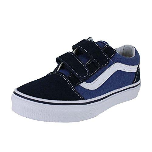 Vans Kids Old Skool V Skate Shoe Navy/True White 2.5
