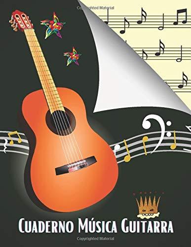 Cuaderno Música Guitarra: Libro de partituras para todos los amantes de la música: papel escrito a mano para componer o escribir canciones. - 120 paginas - Gran formato - Magníficos regalos