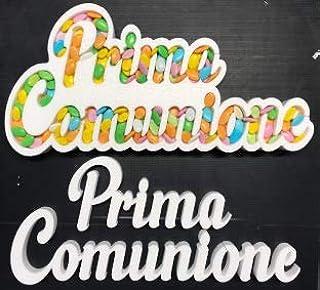 Contenitore Portaconfetti in Polistirolo Scritta PRIMA COMUNIONE cm 30 x 60
