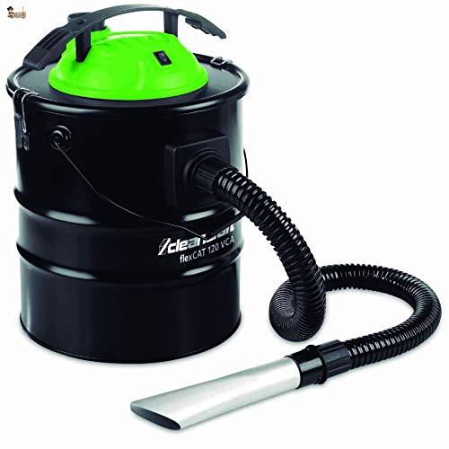BricoLoco Aspirador de Cenizas para Estufa, Horno, Barbacoa de leña, pellets. Aspiradora Doble Filtro = Filtro de Cartucho + Rejilla Metal. Función soplador. 20 litros. ¡¡¡1.200 WATIOS!!!