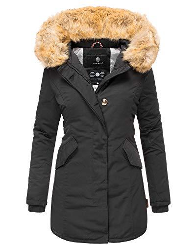 Marikoo Karmaa Damen Winter Jacke Stepp Parka Mantel Winterjacke warm gefüttert