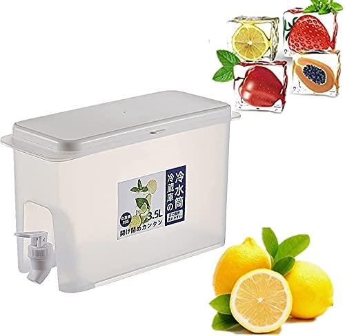 HAO KD 3.5L Dispensador de Bebidas de Bebidas con cucharón de Limonada de Tetera de Fruta de Grifo, hervidor de Gran Capacidad para la Bebida frío para Fiestas al Aire Libre Cocina Picnic