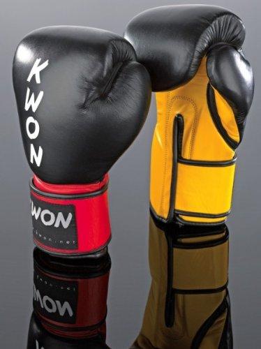 Kwon Boxhandschuhe KO Champ Gr. 12 oz schwarz/rot
