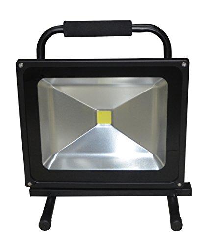 Lámpara de trabajo LED de 50 W, con batería recargable, color blanco frío, portátil, resistencia al agua IP65