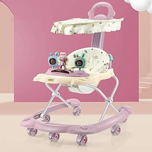 Baby Walker Wheels Aprendiendo Pierna multifunción con Plegable Musical Recién Nacido Seguridad Antirollover TINGG