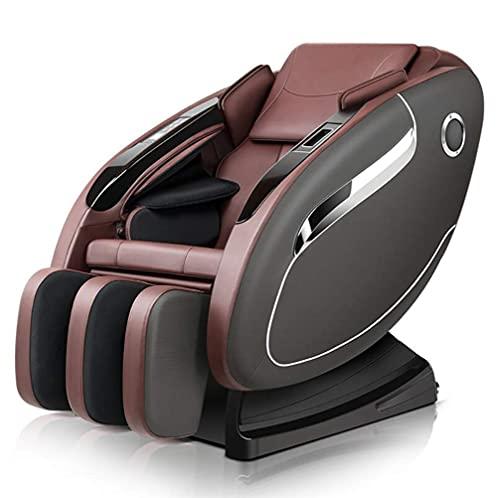 Silla de masaje eléctrica de cuerpo completo, silla de masaje eléctrica, sillón, sillón reclinable, soporte SPA Fitness Sofá, gravedad cero, sistema de calefacción automático, con altavoz Bluetooth