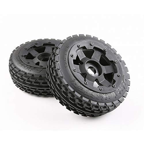 TMIL Juego De Neumáticos De Fuera De Carretera con 24 Acoplador 170 * 60/80 para 1 / 5RC Rovan HPI Baja 5B,85022frontwheel