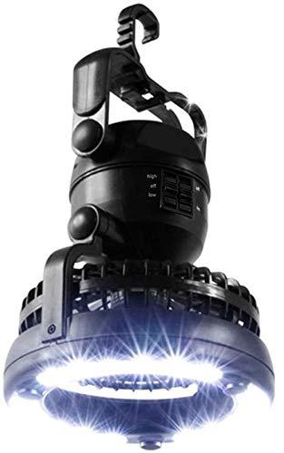 HEXL Linterna LED para Acampar, Ventilador de Techo portátil y Equipo Ligero para Acampar, luz de Tienda para Senderismo al Aire Libre, Kit de Supervivencia de Emergencia para Huracanes