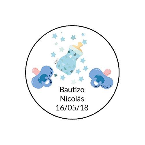 Desconocido Etiquetas Redondas para Bautizo
