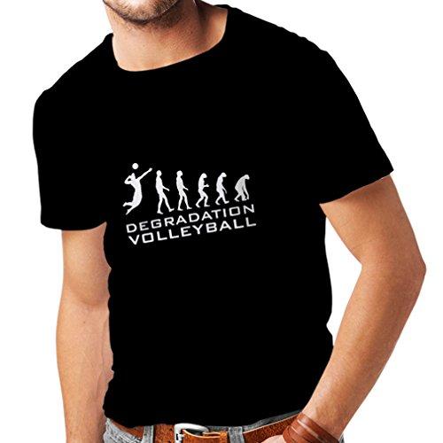 lepni.me Camisetas Hombre Degradación del Juego de Voleibol, Regalo de Humor para Jugadores de Deportes (XXX-Large Negro Fluorescente)
