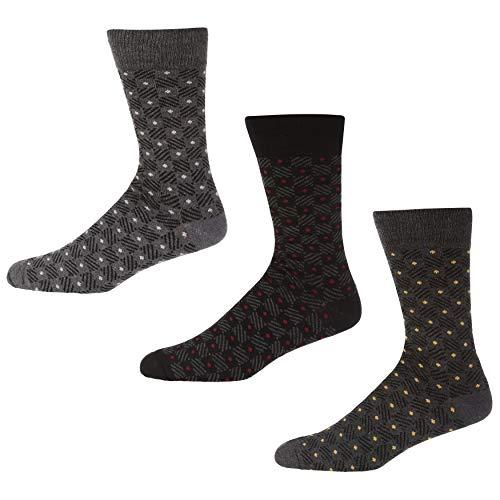 Ben Sherman Herren North Light Socken, Mehrfarbig (Black/Grey Check Pka), 7/10 (Herstellergröße: 7-11) (3er Pack)
