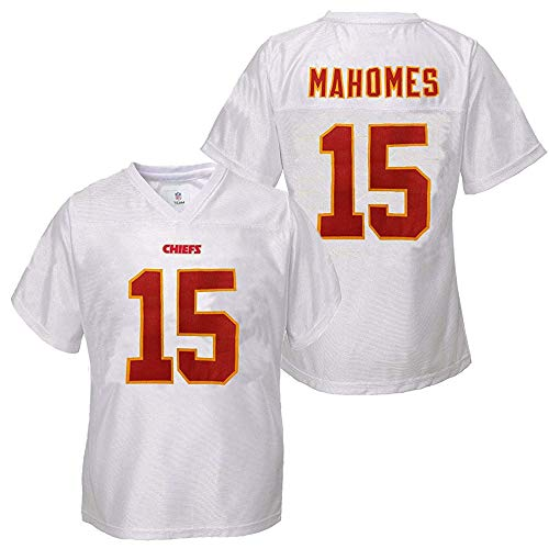 Outerstuff Patrick Mahomes Kansas City Chiefs #15 Youth Player Name & Number Jersey White (Youth Large 14/16)