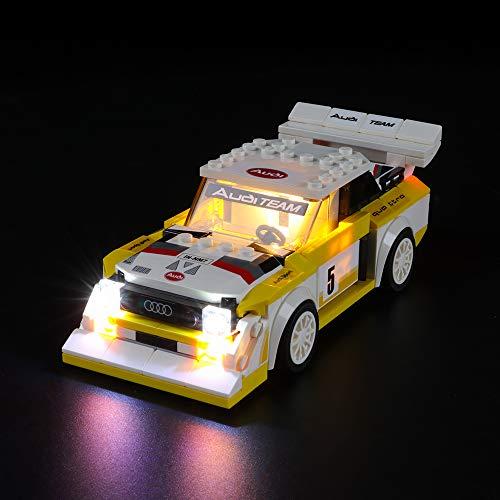 LIGHTAILING Licht-Set Für (Speed Champions 1985 Audi Sport Quattro S1) Modell - LED Licht-Set Kompatibel Mit Lego 76897(Modell Nicht Enthalten)