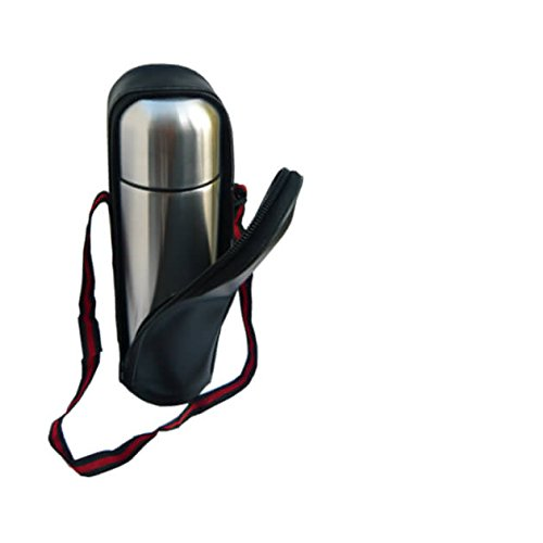 STAINLESS STEEL VACUUM FLASK 1L HOT OR COLD IN A CARRY POUCH BY PRIMA