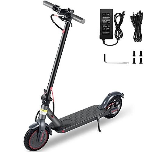 SJY El Scooter eléctrico es un Scooter eléctrico Plegable Seguro y ecológico (conexión de la aplicación iOS / Android Mi Home, con función de Bloqueo, Carga máxima de 100 kg, Pantalla LED)