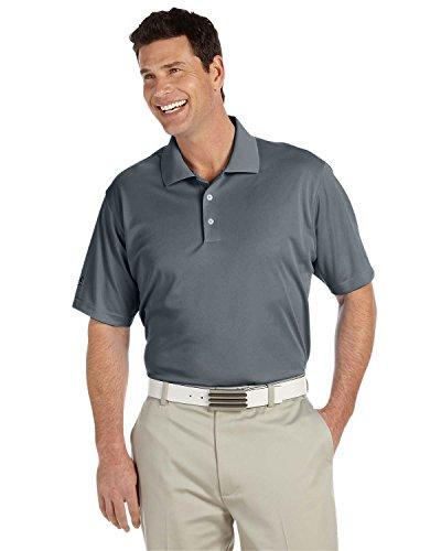 Camiseta tipo polo Adidas Golf A130, ClimaLite, manga corta, hombre, Lead/ Black, XXXL