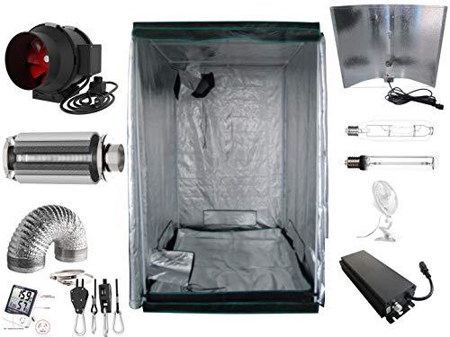Generic Growbox Komplettset 600 W dimmbar NDL Pro 120x120x200 cm (660 Watt Adjustable Wing)