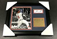 Signed Ronald Acuna Jr. Photo - Facsimile Reprint Framed 8x10 - Autographed MLB Photos
