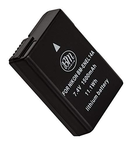 BM Premium EN-EL14A Battery for Nikon D3100, D3200, D3300, D3400, D3500, D5100, D5200, D5300, D5500, D5600, DF, Coolpix P7000, P7100, P7700 Digital SLR Cameras