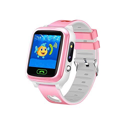 Kids Smart Watch HD Touchscreen Kinder Smartwatches IP68 Wasserdicht Fitness Tracker Uhr Smartwatch mit Sprachsteuerung Kinder Geschenke Geburtstag für Jungen und Mädchen 45 g-Rosa