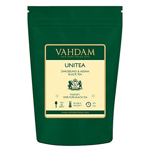 VAHDAM, UNITEA Schwarztee (100+ Tassen) | Mischung aus Darjeeling-Tee und Assam-Tee | 100{0876aab336d70c8a39a99d66c821ef5c7ed790138e6420d2e47981a1b09853e2} reine schwarze Teeblätter | ROBUST & FLAVORY Schwarzer Tee Loose Leaf | 255gm loser Tee