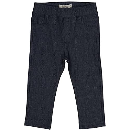 Birba Pantalón niña Leggins elástico cálido algodón niña falso Denim niña 0-36 meses Chic especial y suave, turquesa, 18 M
