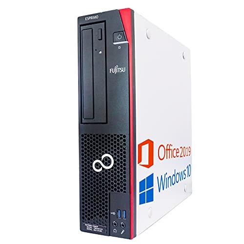 富士通 デスクトップPC D583/MS Office 2019/Win 10/Core i3-4130/HDMI/WIFI/Bluetooth/DVD-RW/4GB/128GB SSD (整備済み品)