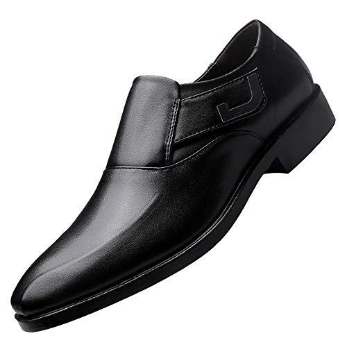 Sannysis Leder Schuhe Herren Anzugschuhe Business Schuhe Lederschuhe aus Leder für Beruf und Anzug Rindleder Schwarz Braun Größe 38-47