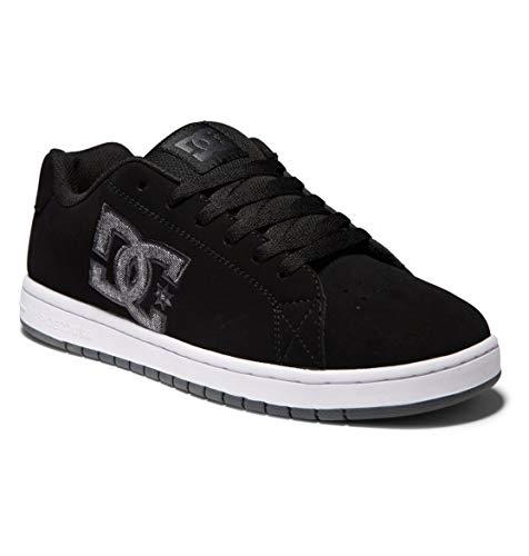 DC Shoes Gaveler-Leather Shoes, Scarpe da Ginnastica Uomo, Nero, 43 EU