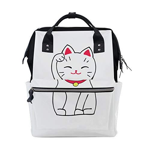 Japon chat chanceux chanceux Kitty grande capacité sacs à couches momie sac à dos multi fonctions Nappy sac soins infirmiers fourre tout sac à main enfants bébé soins Voyage quotidien femmes femmes