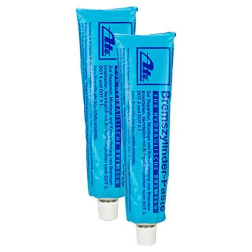 2x Ate Bremszylinderpaste Bremshydraulikteile Kupplungshydraulikteile Tube 180g Kupferpaste Silikonfett Keramikpaste Bremsenfett