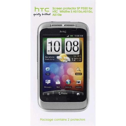 HTC SP P550 Displayschutzfolie für HTC Wildfire S (2 Stück) blister