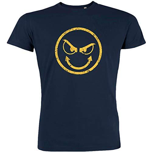 Redshirt Herren T-Shirt, Bad Evil Smile, Bio-Baumwolle, Fair gehandelt, Navy, S