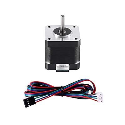 Aokin 3D Printer Motors, Nema17 Stepper Motor 42BYGH 1.8 Degree 40MM 1.5A (17HS4401S) 42N.cm (60oz.in) 4-Lead with 1m Cable for 3D Printer, CNC Machine, etc