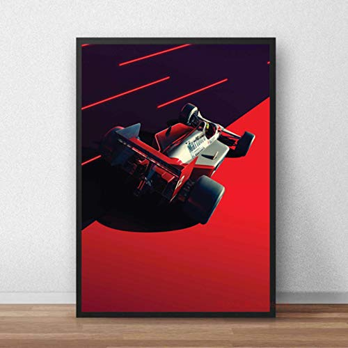 shuimanjinshan Ayrton Senna F1 Poster And Prints Formula World Champion Wall Art Canvas Picture Painting Modern For Living Room Home Decor 40x60cm No Frame P-217